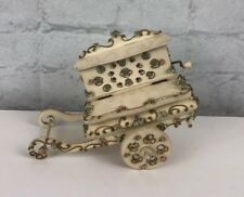 Reuge Music Box - Rock A Bye Baby - Floral Cart With Jewelry Box