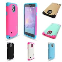 For Samsung Galaxy Note 4 Hybrid Case Armor Protective High Impact Hard Cover