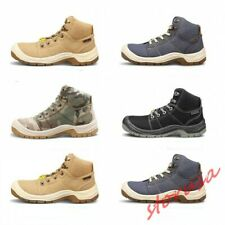 Mens High Top Safety Shoes Non-slip Lace Up High Top Shoes Steel Toe Work Boots