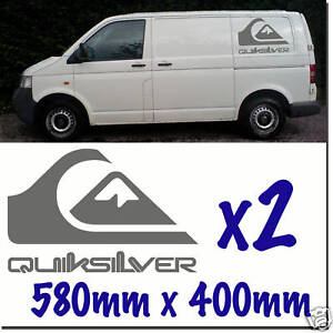QUIKSILVER Sticker Decals SurfCamper Day Van VW Transporter quick silver