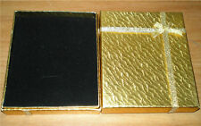 Two (2) Beautiful Gold Gift Boxes For Ring, Earrings & Necklace