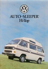 Volkswagen Transporter Auto-Sleeper Hi-Top Caravan Late 1980s UK Market Brochure