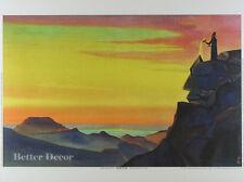 """16"""" PRINT Zoroaster,1931 by N.Roerich ZARATHUSTRA MUSEUM ART -MOUNTAIN LANDSCAPE"""