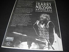 Harry Nilsson gives you his Personal Best 1995 Promo Display Ad mint cond