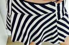 FOREVER NEW SKIRT SHORT MINI STRIPED BLUE WHITE LINED SUMMER WORK Party SZ 10