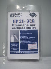 10 REFILL KIT RICARICA INK COMPATIBILE HP 21, HP 336.