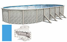 """15'x30'x52"""" Ft Oval MEADOWS Above Ground Steel Wall Swimming Pool & Liner Kit"""
