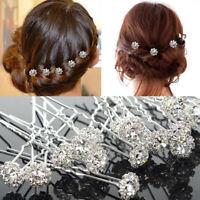 5pcs  Diamante Rhinestones .Crystal Bridal Wedding Prom Hair Pins Clips-UK