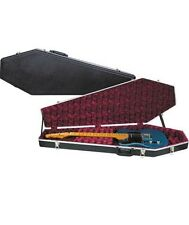 NEW COFFIN CASE 2000-R Universal Electric Guitar Black & Red Sturdiest Model