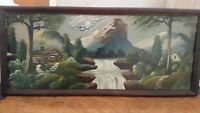 Beautiful Early 1900's Mountain/River Landscape Painting