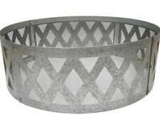 "Large Galvanized Steel 36"" Fire Pit Ring Mesh Lattice Outdoor Bon Fire Guard"