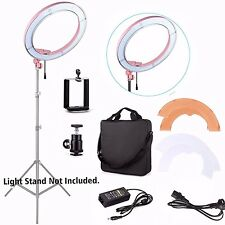 "240 LED 18"" 5500K Dimmable Stepless Adjustable Ring Light Camera Video Portrait"