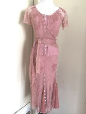 Ghost London 2 Piece Dress in Pink Lace Sz Small