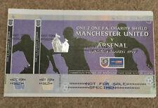 More details for original unused 1999-00 charity shield specimen ticket (manchester utd v arsenal