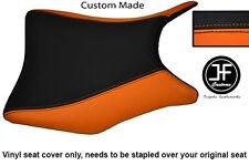 Negro y Naranja Personalizado de vinilo cabe Honda CBR 250 frontal Rider Cubierta de asiento 2011-2012