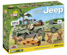 Costruzioni Cobi 24192 Small Army: Willys MB with 1/4 Ton Cargo Trailer, Jeep