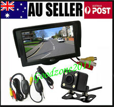 "AU 4.3"" Car LCD Monitor + 4  LED Wireless Car Rearview Reversing camera Kit 170°"
