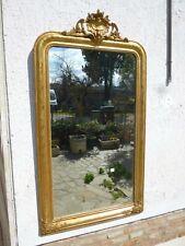 Grande specchiera 155x86 dorata a foglia oro ep '800 RESTAURATA n3 con cimasa