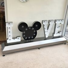 Disney Wedding love Mickey light Dance Floor Sign