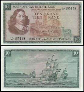 South Africa 10 Rand 1966-1976 P-113b - UNC & 0306