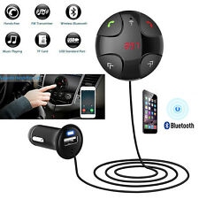 Wireless Bluetooth FM Handsfree Transmitter USB Charger Car Kit Mp3 Player w/Mic