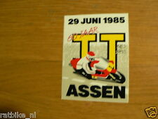 STICKER,DECAL DUTCH TT ASSEN 1985 GRAND PRIX 1985 29 JUNI 1985 MOTO GP