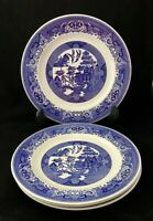 "Royal China BLUE WILLOW Ware 10"" Dinner Plates Lot of 4"