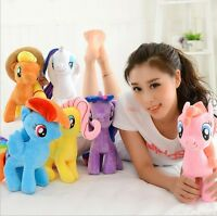 """New Cute 7"""" My Little Pony Horse Figures Stuffed Plush Soft Teddy Doll Toy Gift%"""