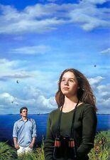 "Original Oil painting ""Silent Spillbills"" by Qi Debrah,Illustration,16""x20"""