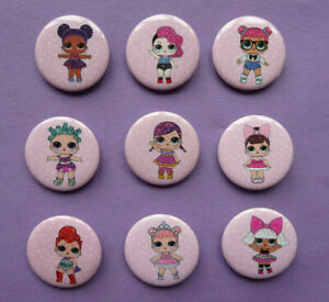 LOL SURPRISE DOLL SMALL BADGES birthday party bag filler 3cm choose number