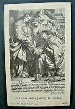 Heiligenbild  HERMANN JOSEPH   holy card  SANTINI  image pieuse  (#OH185)