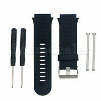 Silikon Band Schwarz Armband Uhrenarmband Strap für Garmin Forerunner 920XT Uhr