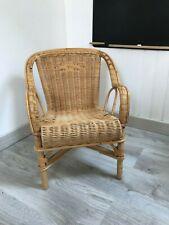 ♦ Ancienne Chaise Enfant En Osier Et Rotin Vintage