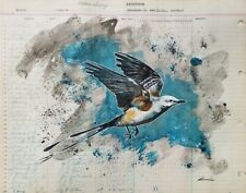 Watkins Scissortail - Original Ledger Art by Dylan Cavin, Choctaw