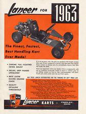 New Listing! Vintage Beautiful Color 1963 Rupp Lancer Go-Kart Ad