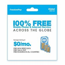 FreedomPop Global Talk, Text, and Data W/ 3-in-1 SIM Kit