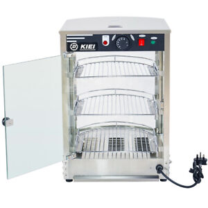 Electric Heated Pie Food Warmer Stainless Steel Display Cabinet Catering Counter