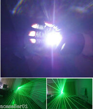 New 60 Beams Battery-powered Laser Glove Green 532nm 3PCS Laser Module Left Hand