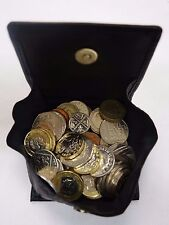 Leather Gents Coin Purse Square Tray Purse for Coins and Keys
