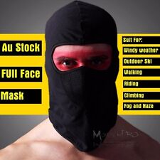 Black Cycling Bike Outdoor Head Neck Full Face Mask Cover Hat Protection TDRMOTO