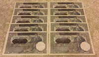 Lot Of 10 X Serbia Banknotes. Germany WWII Occupation. 100 Dinara. Dated 1941