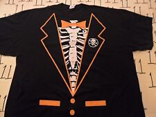 2XL- Halloween Tux Rib Cage T- Shirt