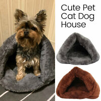Pet Cat Dog Nest Bed Puppy Soft Warm Cave House Winter Sleeping Pad Mat Sac SH