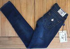 New TRUE RELIGION Jeans SKINNY WFLP Denim Gold SN WBR599SKL3 CHVM LONE GROVE