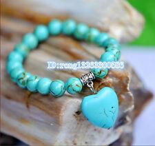 Ethnic jewelry Tibetan silver turquoise bracelet Ladies Heart Bracelet