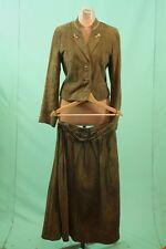 Wunderschönes Trachten Leder Kostüm Kleid Janker 42/L Hirsch-Knöpfe Handarbeit