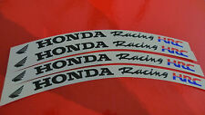 4 pcs HONDA RACING HRC wheel rim stickers decals set for FIREBLADE CBR VFR