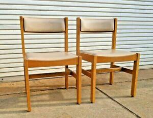 GUNLOCKE Solid Oak Side Chairs (pair) ~ FedEx ship