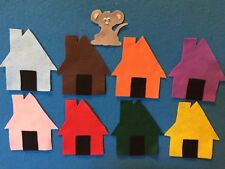Mouse House Colors & Counting Flannel Board Story Felt