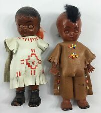 Vintage Kewpie Celluloid Doll Lot Native American